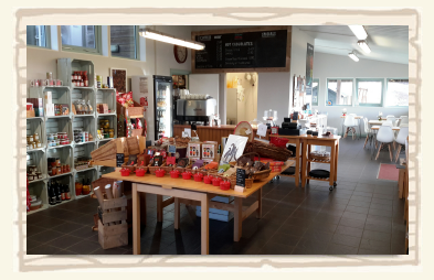 Inside view of Cafe at the South Devon Chilli Farm