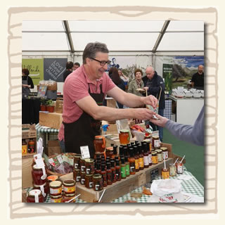 South Devon Chilli Farm at Exeter Food Festival (Martin at work)