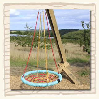 Craddle swing at the South Devon Chilli Farm