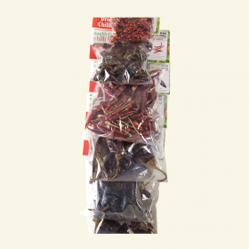Dried Mexican chillies selection