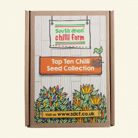 10 chilli seed packets in a gift box