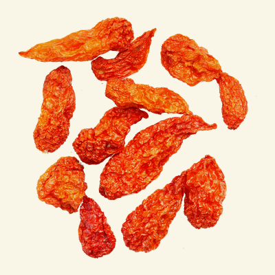 Dried Bhut Jolokia, Devon Grown