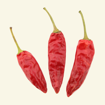 Dried Sport chillies, UK