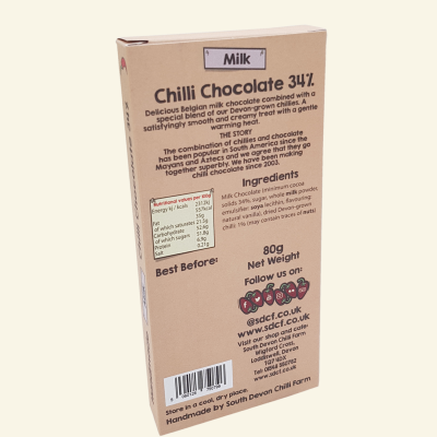 Milk Chilli Chocolate - Back