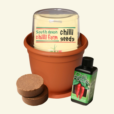 Inside the One-Pot chilli growing kit