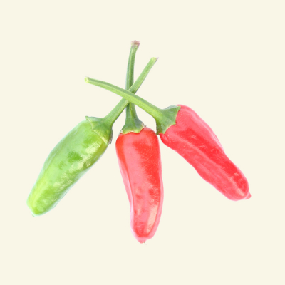Three fresh Apache Chillies