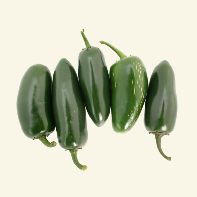 5 Fresh, Green Jalapeno chillies